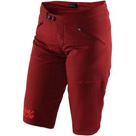 100% Ridecamp - Culotte corto sin tirantes Mujer - rojo